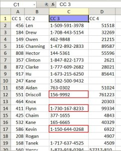 Finding the beginning or end of a row or column